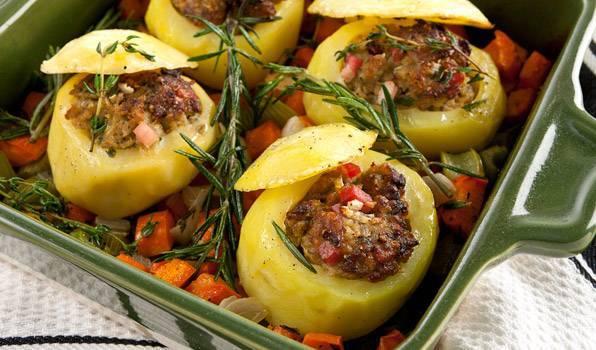 Nadev od krompira sa suvim mesom