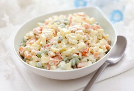 ruska salata sa majonezom